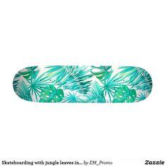 Skateboarding with jungle leaves in background skateboard Skateboard Deck Art, Skateboard Design, Complete Skateboards, Cool Skateboards, X Games, Skate Decks, Burton Snowboards, Kitesurfing, Longboards