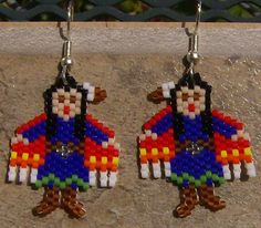 Shaw Dancer Earrings Hand Made Seed Beaded on Etsy, $20.00