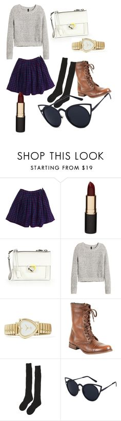 """""""Untitled #96"""" by t-prodigy on Polyvore featuring American Apparel, Mimco, Salvatore Ferragamo, H&M, Steve Madden and Samantha Holmes"""