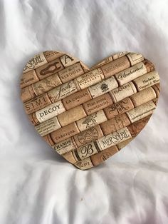 Its finally here! A big and beautiful, rustic wine cork heart for your decorating needs! Ive had this item on my to do list for some time. Hearts are one of the most sought after shapes and the most simple symbol that we can identify with. This item is made on top of a wooden base, #winetime