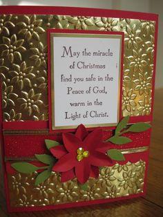 Mojo Monday 109 Poinsettia Card