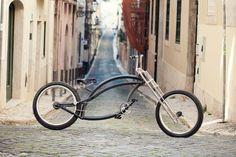 Firebikes Fuid custom bike in Bairro Alto, Lisbon. Mopeds, Cool Bicycles, Custom Bikes, Lisbon, Cool Stuff, Cool Things, Scooters