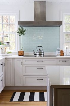 The two windows and then drawers under cooktop perfect