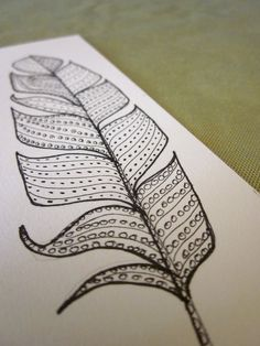 Interesting take on the classic feather drawing