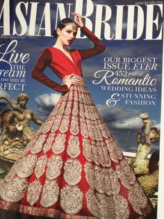 The new Autumn edition of Asian Bride.  This was on sale at the Asian Bride Live Exhibition.  Fuschia feature in this edition.