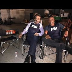 Last day of shooting, Criminal Minds Season 10...it is amazing it has been 10 yrs of me bringing Derek Morgan to life... THANK YOU for your loyal support and love for all of us on this show...here is a little behind the scenes .... taking a little break with my friend and colleague Joe Mantegna.... ONE of the CLASS ACTS in the BIZ!!!  - Shemar Moore's FB