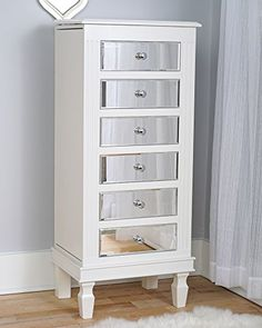 Taupe Mist Hives and Honey MEADOW Jewelry Armoire