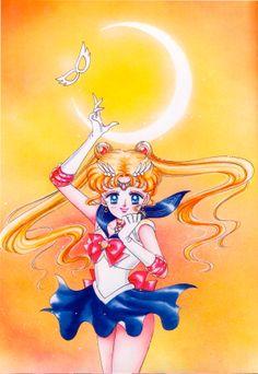 Sailor Moon; from Bishoujo Senshi Sailor Moon Original Picture Collection, Vol. I | art by Naoko Takeuchi