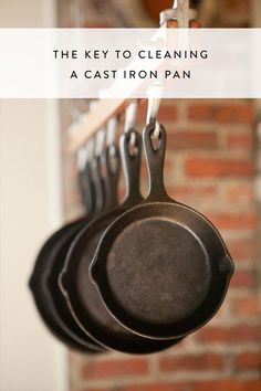 My three cast iron skillets are my most-used kitchen items. One of the skillets used to belong to my grandmother, which means the interior is super smooth (grea Cast Iron Care, Cast Iron Pot, Cast Iron Cookware, Cast Iron Cooking, It Cast, Clean Cast Iron Skillet, Lodge Cast Iron Skillet, Cast Iron Stove, Iron Skillet Recipes