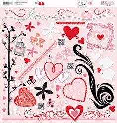 Bo Bunny Crush stickers
