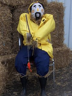 Fisherman Scarecrow! Fall Fest!