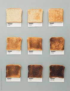 Toast colors by CACTUS Creative Studio - Pantone, Toast - Stocksy United Food Design, Menu Design, Website Color Schemes, Pantone Color, Toaster, Cooking Time, Food Styling, Food Art, Food Photography