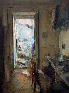 Interior #123. Oil on wood, 55 x 41 cm *SOLD*