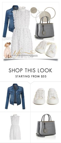 """""""Fresh White Sneakers"""" by annazow ❤ liked on Polyvore featuring LE3NO, Simone Rocha, Givenchy, Fendi and WALL"""