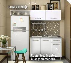 Si tu cocina es pequeña, ¡un kit de muebles optimizará tu espacio y lucirá en tu hogar! #Sodimac #Homecenter #Sodimac Homecenter