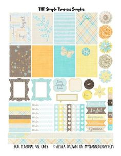FREE My Planner Envy: Simple Treasures Sampler - Free Planner Printable