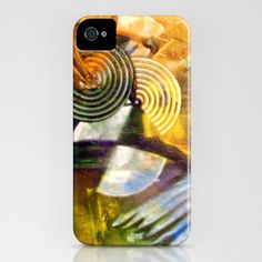 Circular Progress iPhone Case by Vargamari - $35.00 - Early encaustic painting