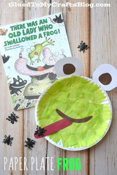 Paper Plate Frog as a reading response to The Old Lady Who Swallowed a Frog