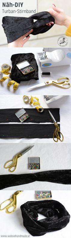 Näh dir dein eigenes stylisches Turban-Stirnband. In unserem DIY zeigen wir dir, wie's geht! | www.welovehandmade.at