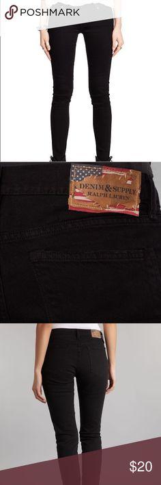 Ralph Lauren Jeans - Skinny Black Skinny black jeans. Makes your butt look good :) comfy. Good material Denim & Supply Ralph Lauren Jeans Skinny