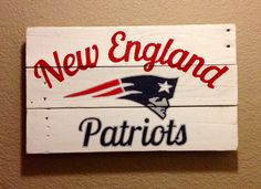 New England Patriots wall art on Etsy, $45.00