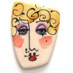 ceramic-painted-face - Sarajane's Polyclay