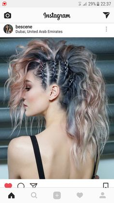 45 gorgeous side braids with high ponytails in 2018 braids gorgeous high ponytails side 27 elegant side braid ideas to style your long hair Fast Hairstyles, Pretty Hairstyles, Hairstyles Pictures, Side Braid Hairstyles, Funky Hairstyles For Long Hair, Faux Hawk Hairstyles, Updo Hairstyle, Unique Braided Hairstyles, Hairstyle Ideas
