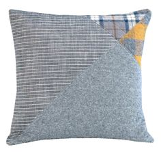 Flannel Wingtip 2  modern decorative pillow in by bperrino on Etsy