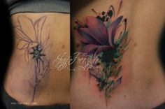 purple flower cover up tattoos egodesigns