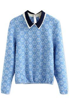 Essential Textured Long-Sleeve Sweatshirt