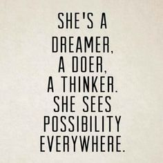 Sometimes we just need to feel empowered! Are you a dreamer? A doer? A thinker? Do you see possibility everywhere? How can you create the best, most excited, loving, inspired, motivated, go-getter version of yourself today?