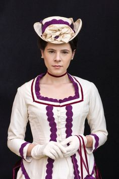 Elaine Cassidy as Katherine Glendenning / Costume Designer Joanna Eatwell and Costume Assistant Clare Vyse. / BBC One's 'The Paradise' episode 1 info and picture gallery