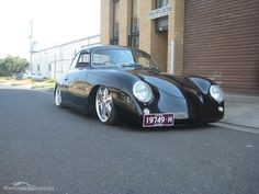1957 PORSCHE 356A airbag suspension and 170hp motor!