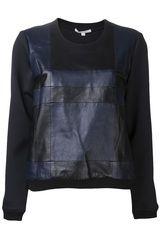 Jonathan Simkhai Check Sweatshirt in Black - Lyst