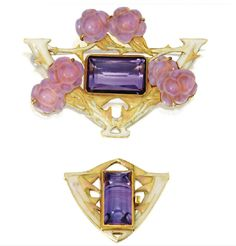 brooch and clasp by René Lalique, ca. 1900