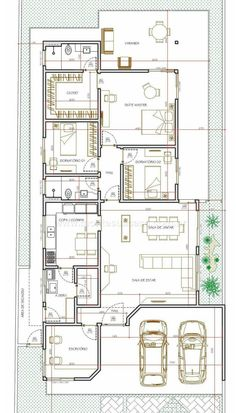 Drawing House Plans, Steel Frame Construction, Narrow House, Architecture Plan, House Floor Plans, Autocad, Sweet Home, House Design, Flooring