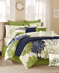 Colors not the actual bedding  Lola Green 12 Piece Full Comforter Set - LIMITED-TIME SPECIALS - for the home - Macy's