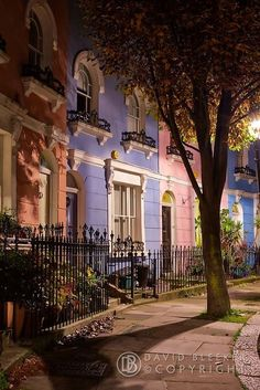 Kelly Street, Kentish Town, London, love the pastel colours