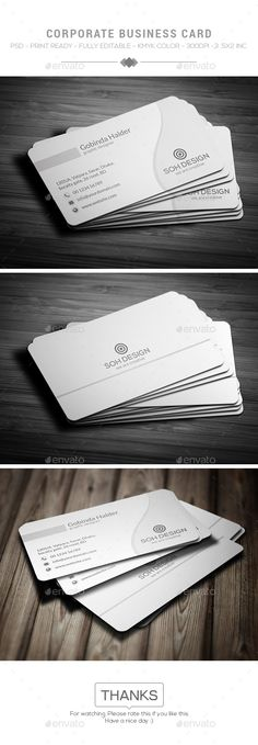 Corporate Business Card - Corporate #Business Cards Download here: https://graphicriver.net/item/corporate-business-card/17327887?ref=classicdesignp