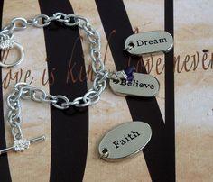 Faith - Dream - Believe  ADD, ADHD, Lupus, Alzheimer's, Fibromyalgia,  Dravet Syndrome Awareness Bracelet