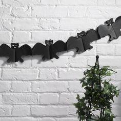 Halloween- Bat Garland- Happy Halloween