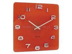 Zegar ścienny KARLSSON Vintage szklany czerwony  http://www.citihome.pl/zegar-scienny-karlsson-vintage-szklany-czerwony.html