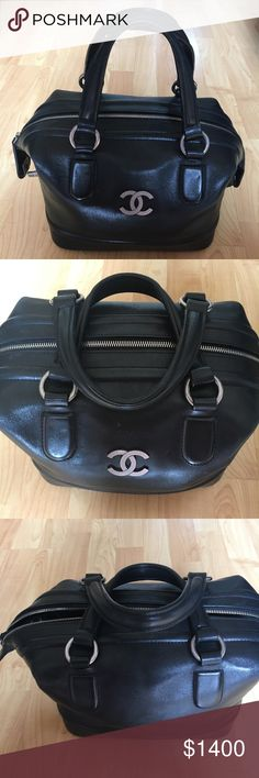 Chanel Doctor Bag Black Leather, Lightly Worn, No Scratches, Rips or Tears, No Trades Please CHANEL Bags Totes