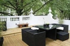 A roof terrace