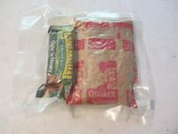Instant oatmeal in an MRE