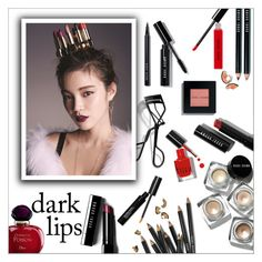 """""""So Stylish: Statement Lips"""" by danielle-487 ❤ liked on Polyvore featuring beauty, Bobbi Brown Cosmetics, Christian Dior and statementlip"""