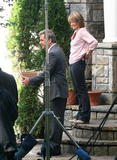Mel Gibson and Jodie Foster filming The Beaver in NY