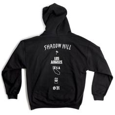 Shadow Hill Black Oversized Merch Hoodie ($71) ❤ liked on Polyvore featuring tops, hoodies, oversized hooded sweatshirt, oversized tops, hooded sweatshirt, sweatshirt hoodies and oversized hoodie