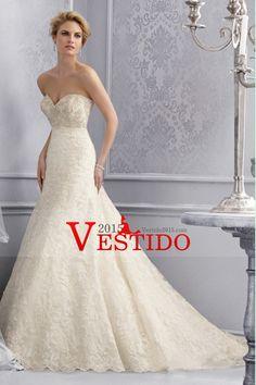 2014 blusa moldeada sirena del amor / vestido de boda de la trompeta con el cordón de la falda