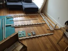 Small Space Solution: A DIY Murphy Bed Made With IKEA Parts ...
